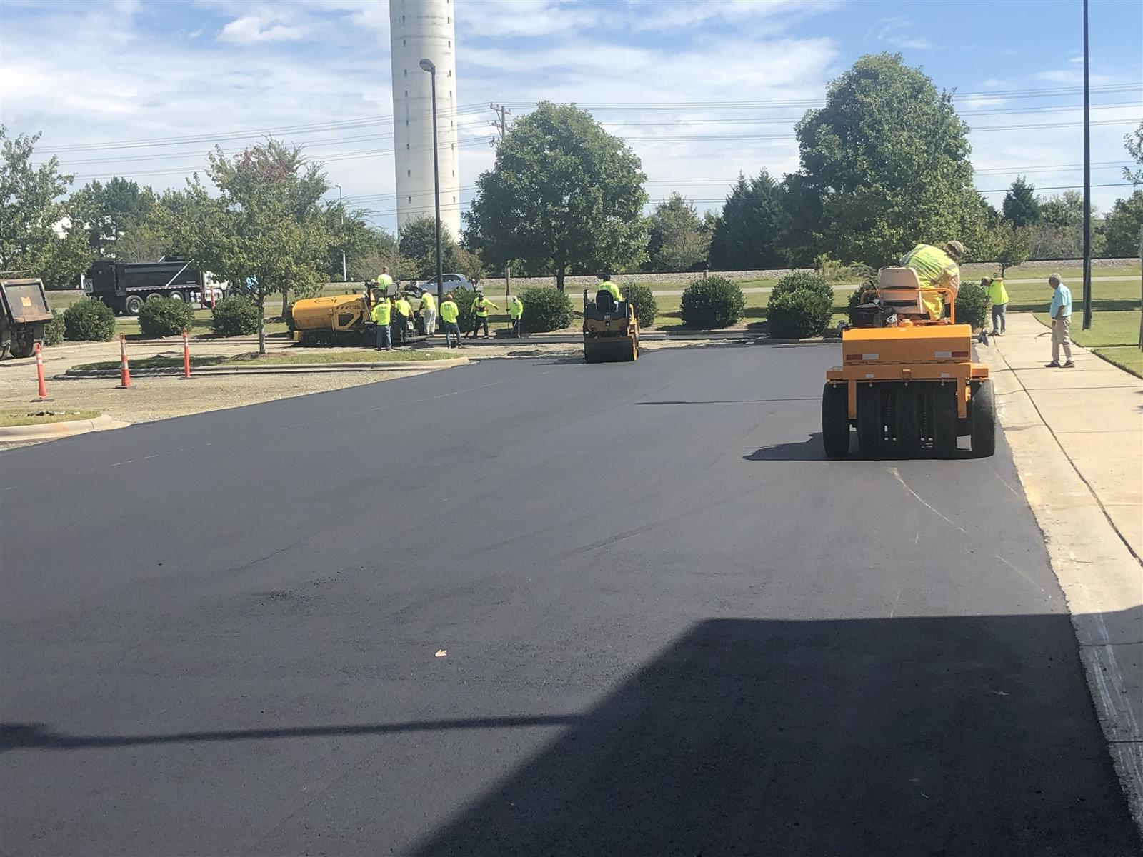 Resurfaced MS parking lot